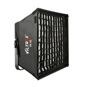Image 4 - Viltrox VK 60 LED light Softbox Fold Outdoor Reflector Umbrella Diffuser+Carrying Bag for Viltrox VL 40T VL 50T/B VL 60T VL 85T