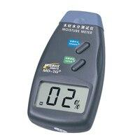 Madera humedad medidor MD-2G + Digital medidor de humedad de madera de leña húmeda de 2-Pin MD2G +