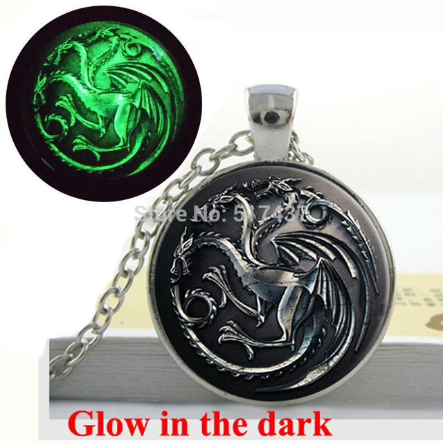 Glow In The Dark Of Thrones Necklace House Targaryen Song Ice And Fire
