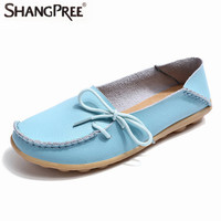 Spring Summer And Hot Women Real Leather Shoes Moccasins Leisure Flats Female Driving Casual Footwear Size