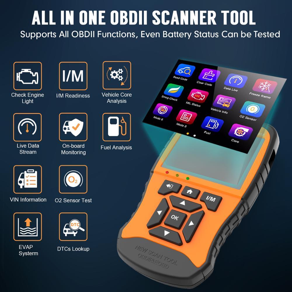 Image 2 - VXDAS Авто/автомобильный диагностический инструмент полная система полное покрытие модели Покрытие модель русский обновленный код ReaderOBD2 сканер NT510 12 В