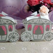 50pcs Romantic Fairy tale Favors Gifts Baby Shower Wedding Candy Box  Cinderella Pumpkin Carriage wedding decoration mariage 2e903ad8cfa1