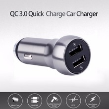 USB Car Charger in mobile phone charger 2 Port Quick Charge 3.0 4.8A Dual Fast Car Quick Charger for iPhone samsung  smartphone