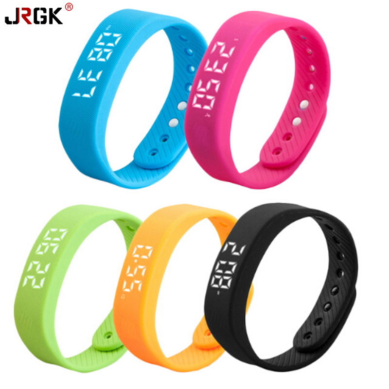 JRGK T5 LED Display Smart Wristband Smartband Smart Band Sleep Monitor Living Waterproof milti colorSport Gauge