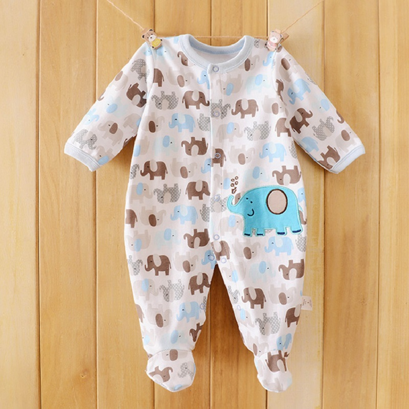 9ca785da4 2019 Baby Rompers Cotton Body suits Long Pajamas Romper payifang ...
