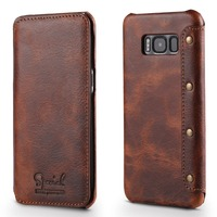 New Luxury Flip Case Capa For Samsung Galaxy S8 S8Plus High Quality Leather Wallet Cover With