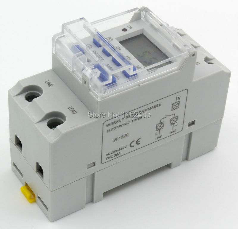 THC30A 30A AC 220V digital time switch weekly programmable electronic timer 220VACTHC30A 30A AC 220V digital time switch weekly programmable electronic timer 220VAC