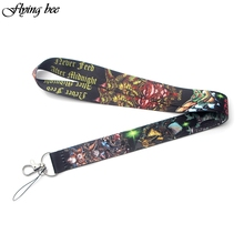 Flyingbee Gremlins GIZMO Lanyard Phone Rope Keychains for Keys ID Card Cartoon Lanyards For Men Women X0080