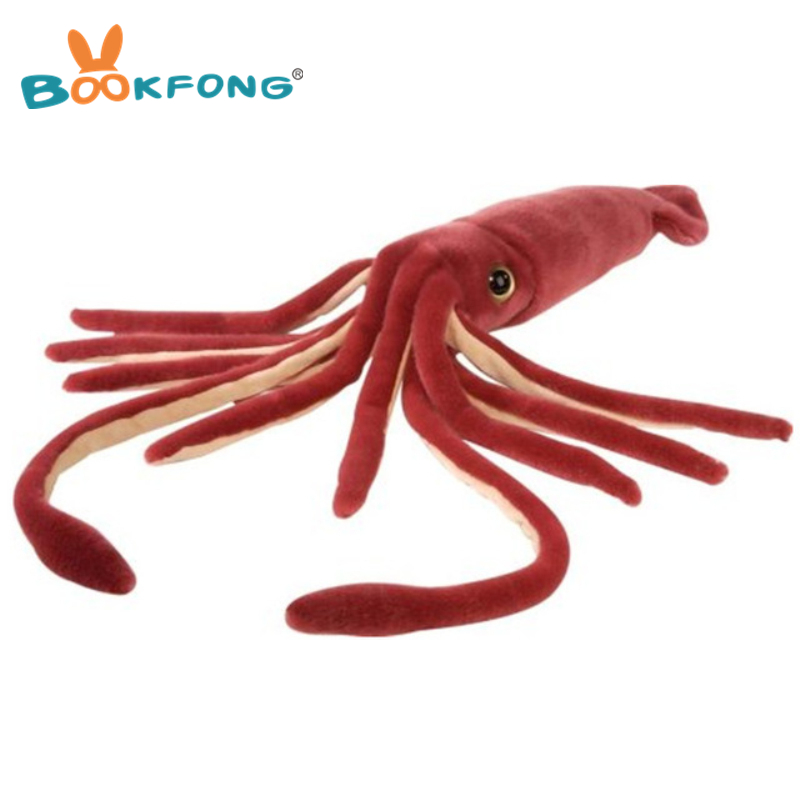 56 cm gigante animales marinos calamar peluche simulación calamar peluche muñeca niños regalo