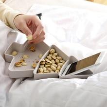 Необычная Рождественская елка форма семена орехи сухие фрукты закуски конфеты пластиковые тарелки чаша посуда поднос для завтрака кухонные товары для дома