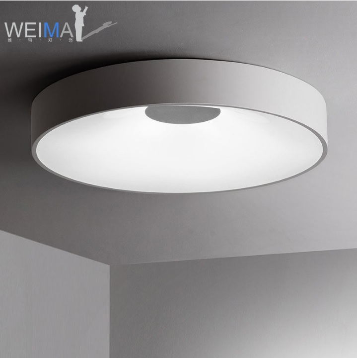 Dimmable LED Ceiling Lamp Luminaire With Concave Shade