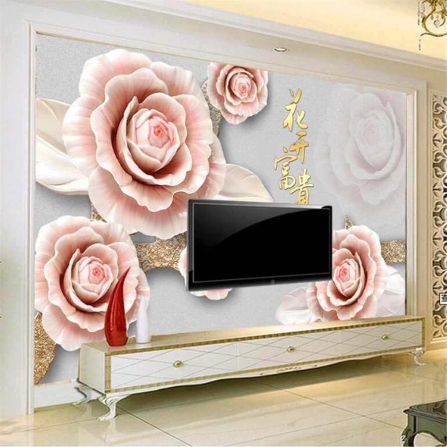 Wallpapers Reasonable Custom 3d Photo Wallpaper Living Room Mural China Jade Carving Landscape Photo Sofa Tv Backdrop Non-woven Wallpaper For Wall 3d Attractive Designs; Home Improvement