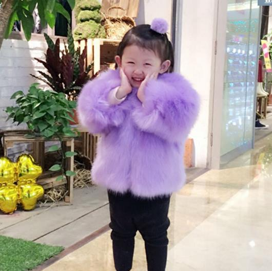Autumn Winter Jacket For Children O Neck Menina Manteau Hiver 2018 Adolescente Filles Faux Fox