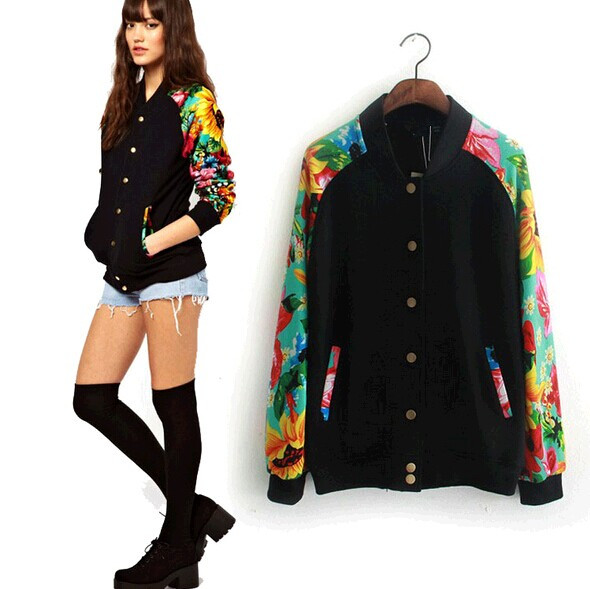 2017 New Sweatshirt Suit Women Fashion Sleeve Floral Printed ...