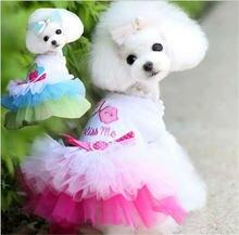 Платье для собаки одежда домашних животных маленьких собак чихуахуа