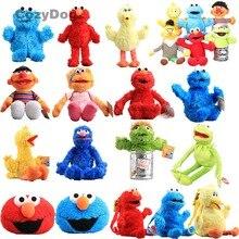 Аниме Улица Сезам Рисунок плюшевые куклы мягкие чучело Элмо Cookie Monster большая птица рюкзак кулоны-куклы для детский подарок