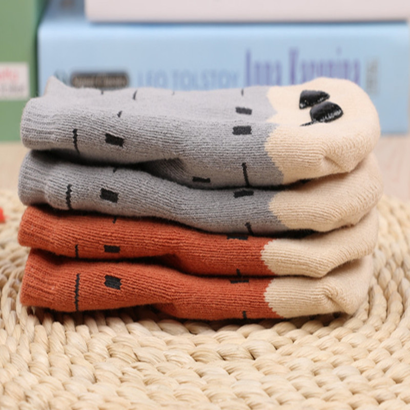 Free Shipping 2021 Winter Thick New Born Girls Boys Baby Socks Cotton Casual Meias Infantil Anti Slip Terry Socks Soft 5
