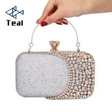 цена 2019 Evening Clutch Bag Women Bags Wedding Shiny Handbags Bridal Metal Bow Clutches Bag Chain Shoulder Bag онлайн в 2017 году