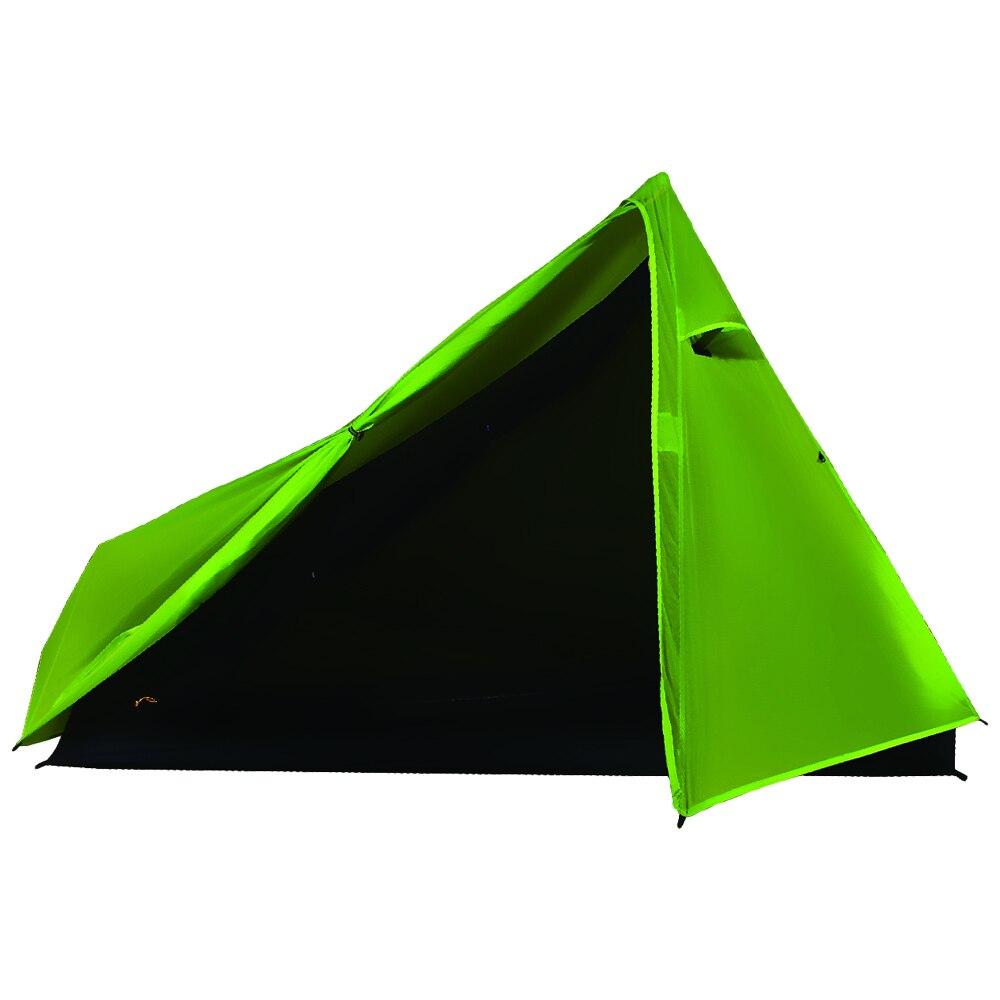 YOUGLE Ultralight Camping Tent Green 3 Season Single men Professional 15D Nylon Silicon Coating Tents Aluminum alloy rod 650gYOUGLE Ultralight Camping Tent Green 3 Season Single men Professional 15D Nylon Silicon Coating Tents Aluminum alloy rod 650g