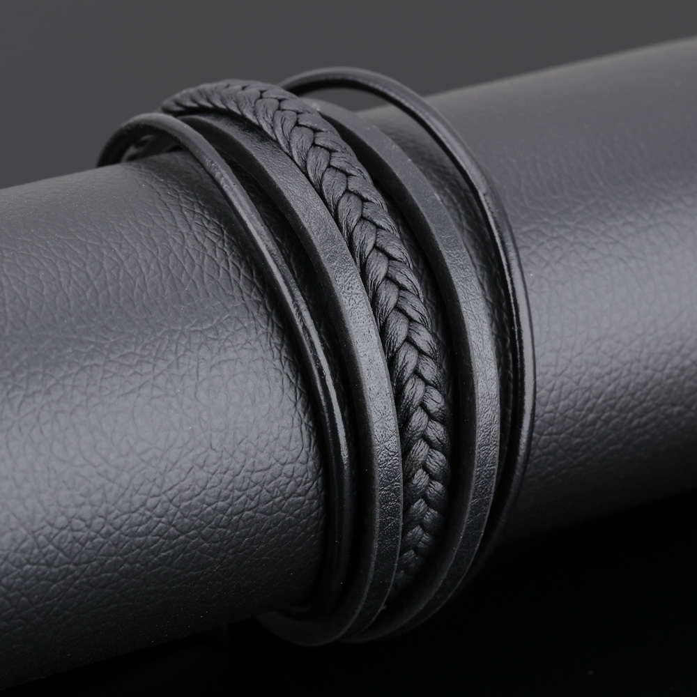 Vintage leather bracelet men jewelry handmade multilayer bracelets & bangles retro jewellery male accessories charm fashion gift