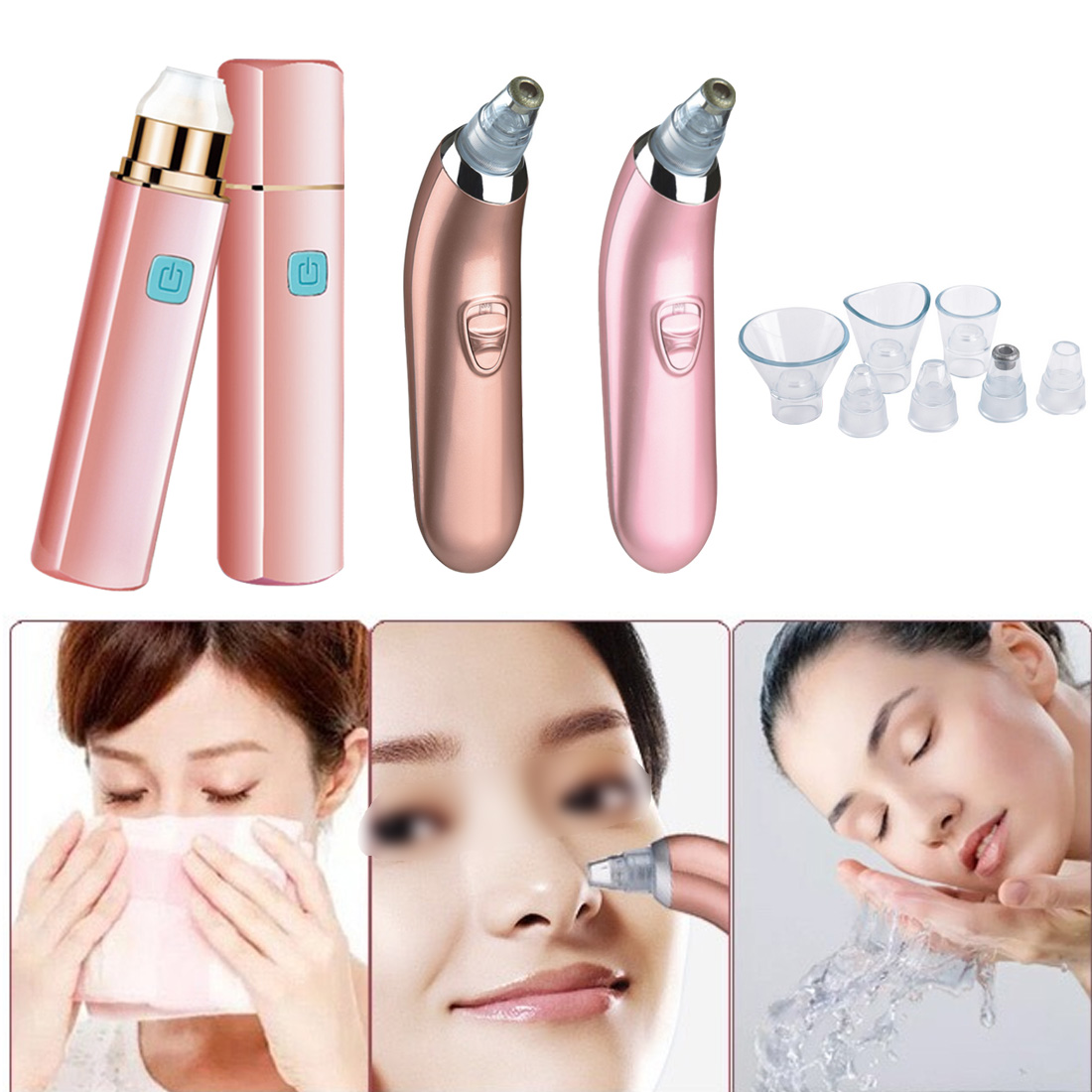 Electric  Spot/ Acne /Blackhead Remover/Facial Vacuum Pore Cleaner/Vacuum Suction Extraction Face Care Tool For Girls/Women