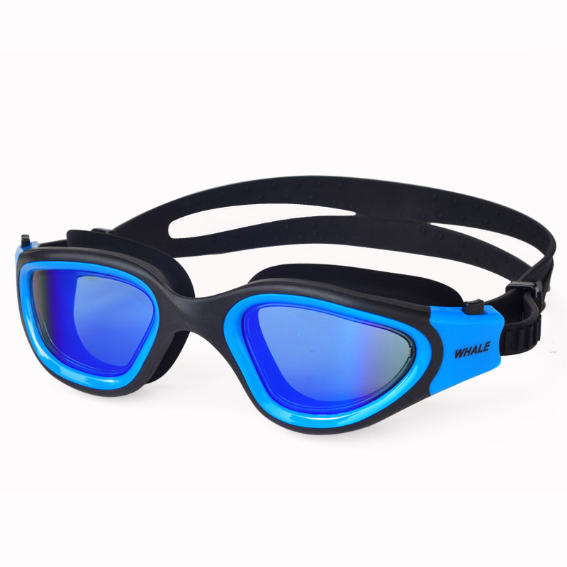 1815a5197681 Ballena profesional UV Anti-niebla gafas de natación impermeable ajustable  silicona gafas de ...