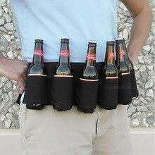 6 пакет кобура портативный бутылка талии пивной пояс мешок удобный бутылки вина банка с напитком держатель