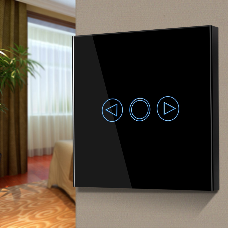 EU/UK Standard AC170-250V Touch Dimmers Switch Waterproof Tempered Glass Panel Wireless Remoter Control Switch White/Gold/Black EU/UK Standard AC170-250V Touch Dimmers Switch Waterproof Tempered Glass Panel Wireless Remoter Control Switch White/Gold/Black