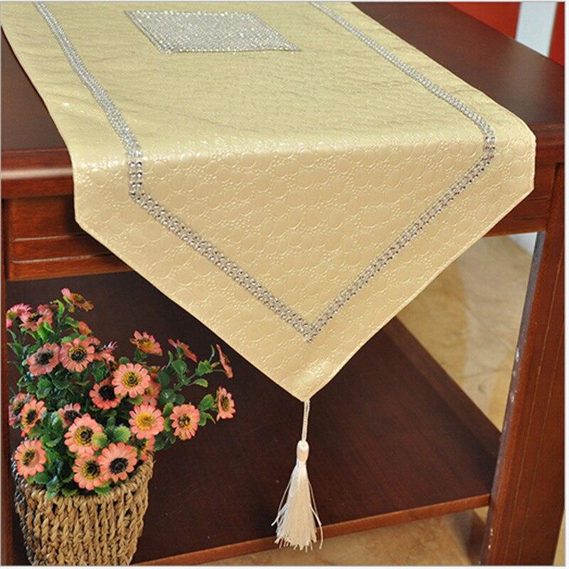 cuero de la pu camino de mesa de lujo elegante del partido decoracin de la boda