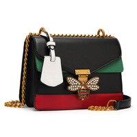 2017 Ruil Women Color Splicing Little Bee Bags Fashion Zipper Designer Handbag Casual Shoulder Messenger Bag