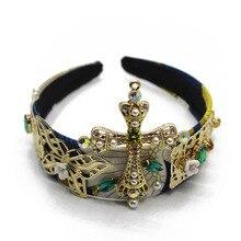Jewel Bridal Rhinestone Baroque Crystal Headband for Women Catwalks Boho Korean Adult Hairband Statement 2019 Hair Accessories