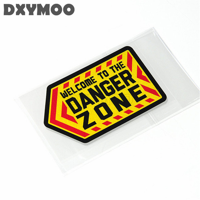 2pcs funny welcome to danger zone car stickers auto window motorcycle helmet vinyl decals exterior accessories