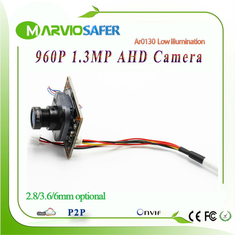 1.3MP 960P HD CCTV AHD-M AHD Camera Module Board with IRCUT and Lens 1200TVL 2400TVL Resolution replace CCD Camera camara