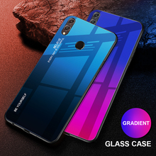 Colorful Gradient Tempered Glass Case For Huawei Honor 8X Shockproof Glossy Cover for Film