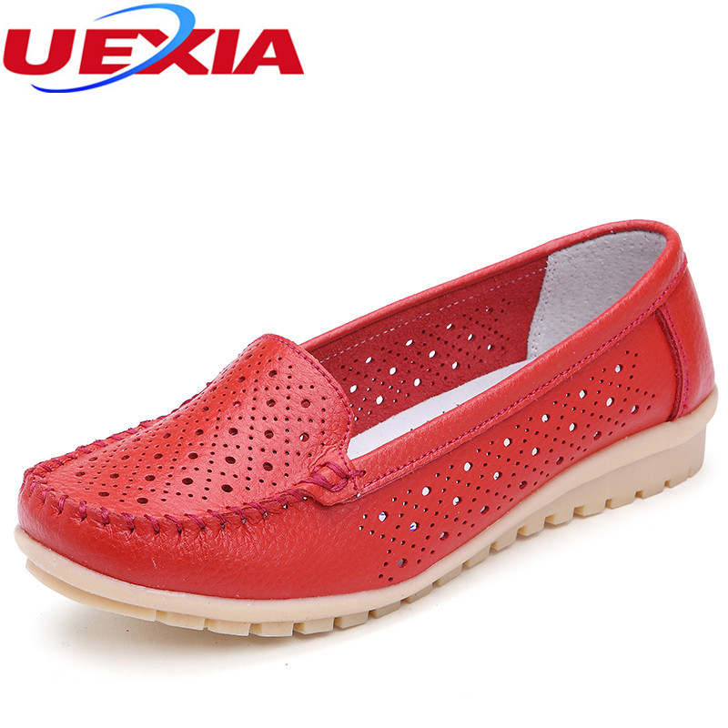 2017 Summer New Soft Bottom Flat Leather Personality Casual Women Shoes Anti-skid Loafers Slip On Flat Shoes Moccasins Plus Size baijiami 2017 new children solid breathable slip on pu casual shoes boys and girls spring summer autumn flat bottom shoes