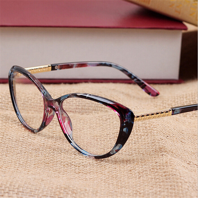 d82d0a42c 2018 Nova Moda Olho de Gato óculos Óptica Óculos de Armação Das Mulheres Do  Vintage das