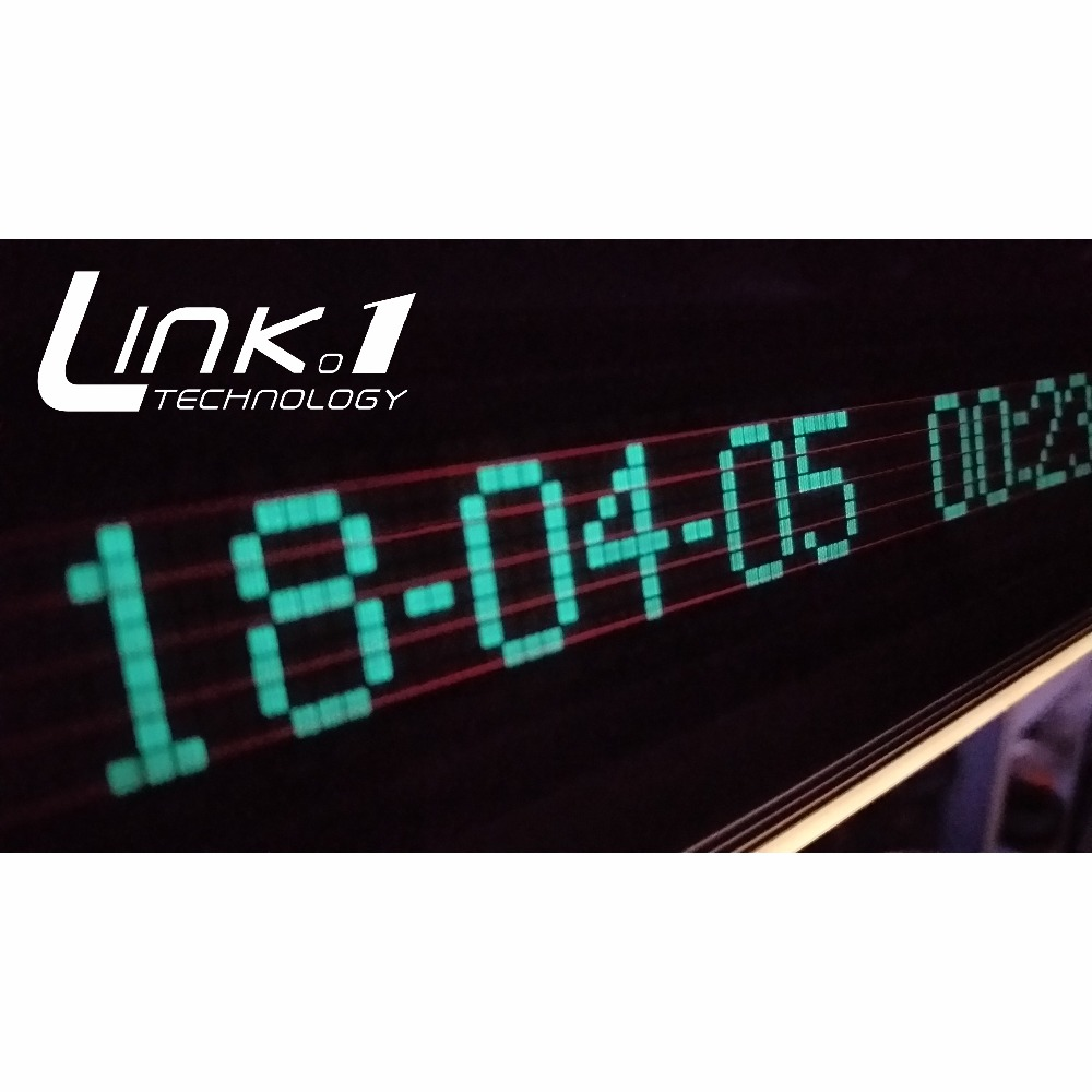 LINK1 VFD Clock Music Audio VU meter Audio spectrum CNC One piece molding aluminum shellt Adjustable