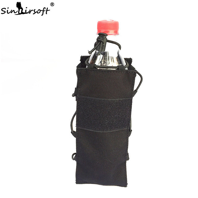 SINAIRSOFT Tactical Water Bag Water Bottle Climbing dump Airsoft Elastic Kettle Pouch Army Durable Travel Hiking Hunting