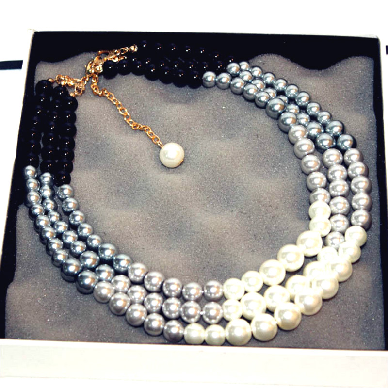 Fashion Elegant Simulated Pearl Maxi Necklace Women Bijoux New Trendy Sweater Jewelry Fine Quality Gift ...