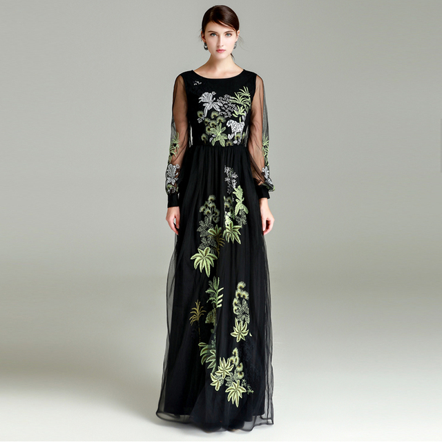 Aliexpress.com : Buy High Quality Women's Elegant Maxi Dress 2018 ...