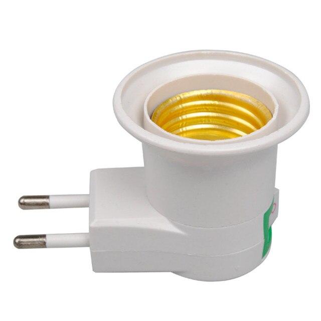 1PCS E27 LED Lamp Light Socket Base Type To 110V 220V EU Plug Bulb Holder Converter