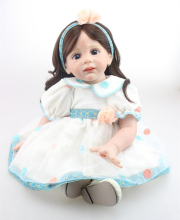 24 inch Toddler Reborn Fridolin lovely dressed dolls high quality collection doll toy for girls
