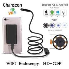 Boroscopio Endoscopio Wifi Cámara Android 720 P IOS Impermeable Lente Detector Endoscopio Endoscópica Semi Rígido Tubo Duro con 8 Leds