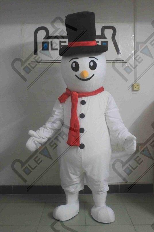 Gentleman hoed Christman sneeuwpop mascotte kostuums groene boot clown sneeuw man mascotte kostuums