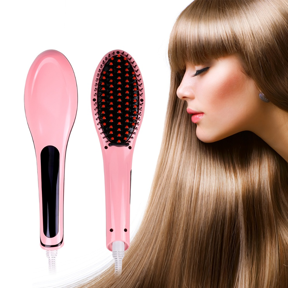 LAGUTE LCD Hair Comb Brush Straightener Hair Iron Fast Ceramic Electric Straightening Hair Brush Styling Tools Flat Iron electric digital hair straightening irons professional fast ceramic hair straightener brush comb styling tools escova alisador