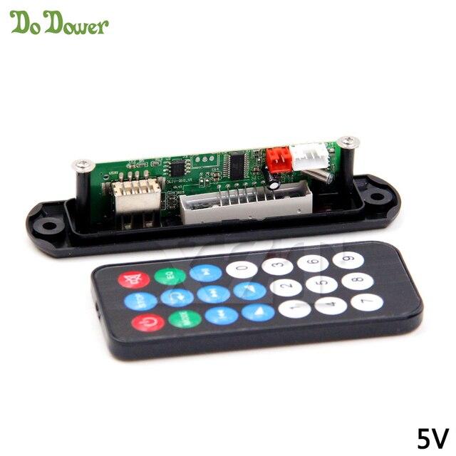 באיכות גבוהה TF רדיו מפענח MP3 לוח 12 V/5 V אודיו מודול מוסיקה מרחוק לרכב רמקול DC 12 V/5 V כוח מיקרו USB אספקת