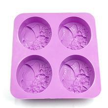 DIY silicone mold 3d cake soap candle pudding molds flower butterfly paraffin wax soy soybean