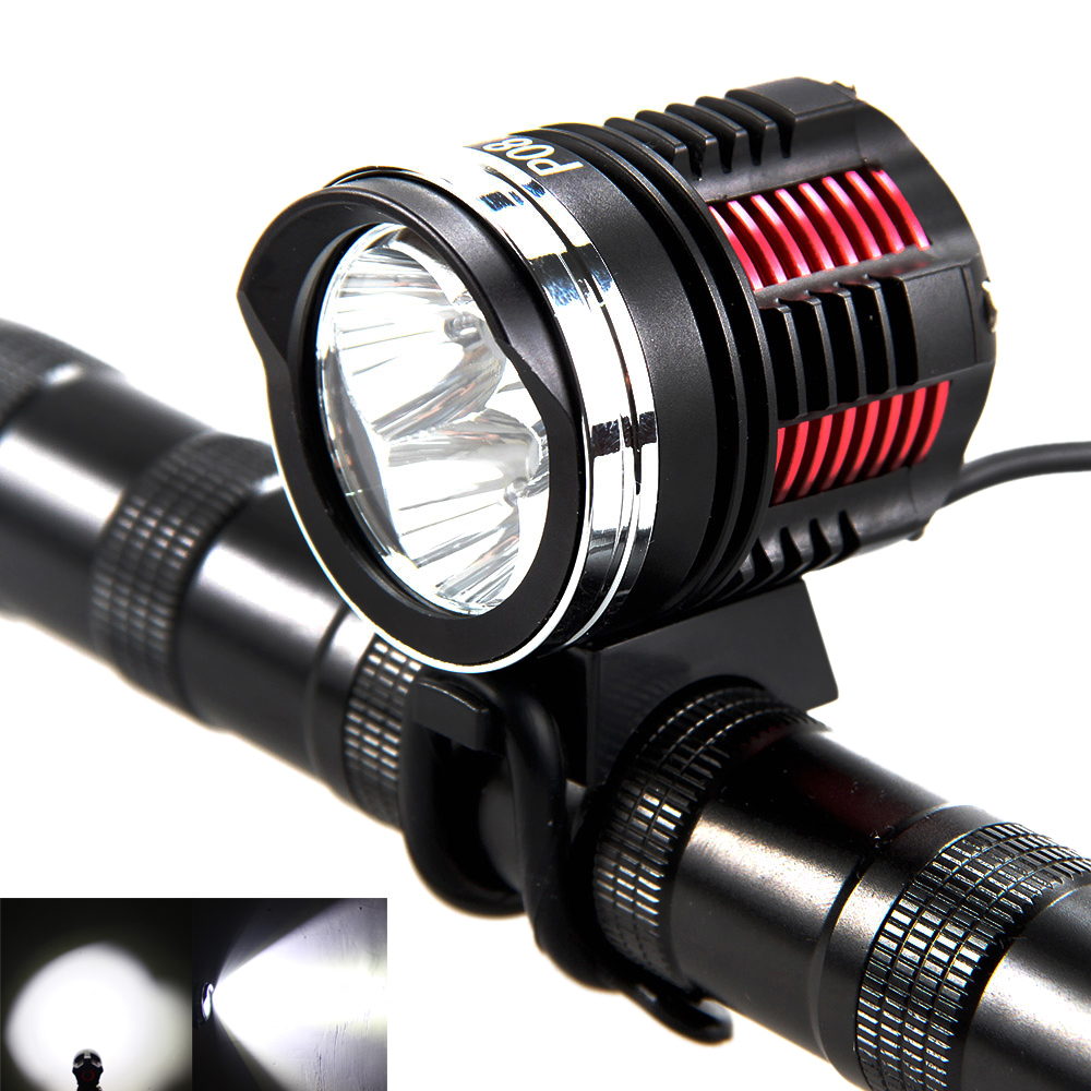 Waterproof 6000LM 3x XM-L2 LED Front Bicycle Light 4 Switch Modes Bike Torch Only Lamp No Battery 3800 lumens cree xm l t6 5 modes led tactical flashlight torch waterproof lamp torch hunting flash light lantern for camping z93