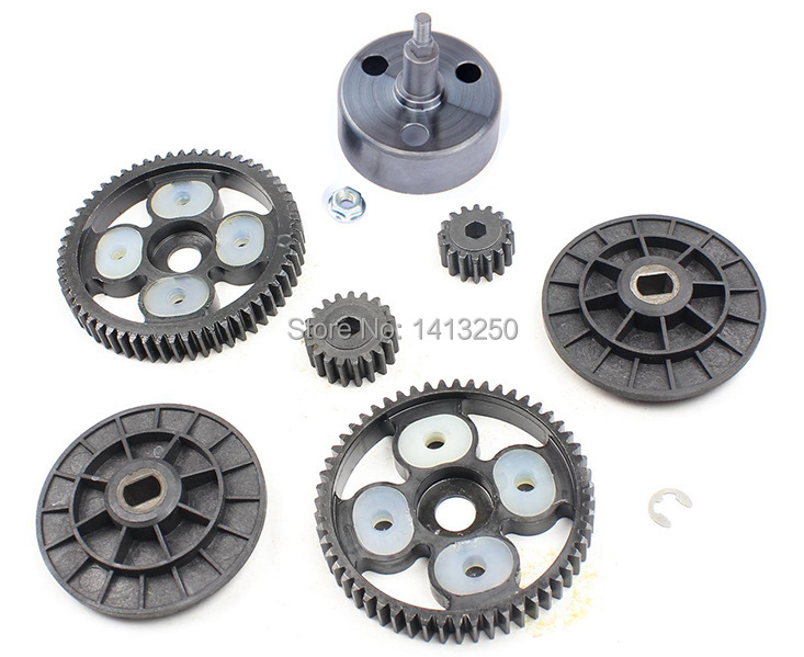 Clutch Bell and 58T/16T and 55T/19T Metal Gear Set for baja 5b parts душевая лейка hansgrohe crometta 100 multi 26823400
