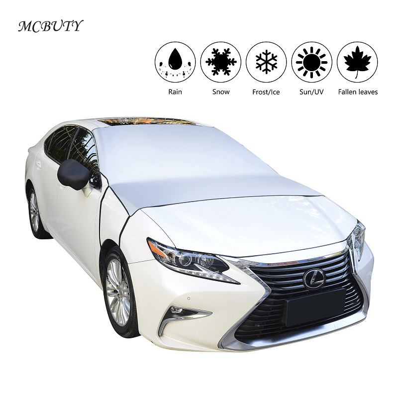 Car-styling Car Covers Windscreen Cover Anti Snow Ice Freezing Frost Dust Shield Front Window Screen Rearview Mirror Protector